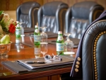Broadmoor Hotel Boardroom close up Kevin Syms Photography - Hotel, Resort, Commercial and Architectural photographer based in Sun Valley Idaho