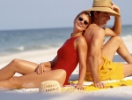 Beach couple La Playa Hotel Naples Florida Kevin Syms Photography for Hotels and Resorts