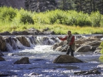 Fishing the falls Kevin Syms Photography for Hotels and Resorts