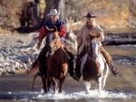 Horseback river crossing Photography by Kevin Syms Sun Valley, Idaho