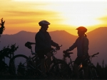 Sunset bikers Photography by Kevin Syms Sun Valley, Idaho