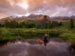 Sunset fly fishing Photography by Kevin Syms Sun Valley, Idaho
