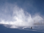 Skiing man made snow at Sun Valley resortKevin Syms Photography for Hotels and Resorts
